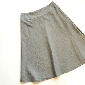 NEW - Pendleton Gray A-Line Gray Wool Skirt - 10